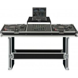 TURNTABLE / MIXER CONSOLE CASE W LAPTOP TRAY