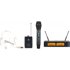 QWM-2 Dual Combo ( HH + Earset ) 470-494 Mhz FR