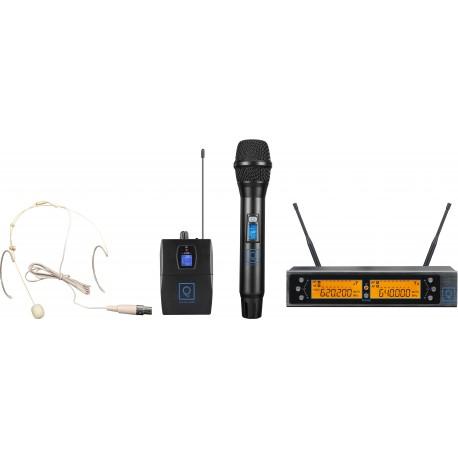 QWM-2 Dual Combo ( HH + Earset ) 470-494 Mhz FR